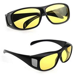 GaoCold Unisex HD Night Vision Driving Sunglasses Yellow Len
