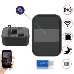 Night Vision Hidden SPY Cam Wall Charger WiFi Remote Recorde