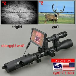 850nm Infrared LED Night Vision Riflescope Optics Sight Tact