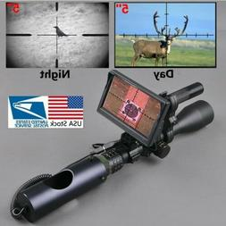 Night Vision Scope Attachment for Rifle Hunting with Digital