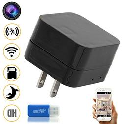 Night Vision WIFI Hidden Spy Camera, Wireless USB Charger Mi