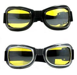 NWT Motorcycle Goggles Hunter Foldable Padded Anti Fog Night
