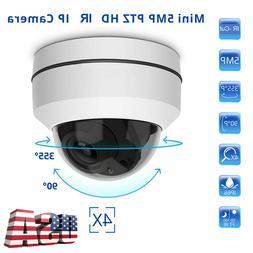 Outdoor 5MP IP PTZ Camera Full HD 1080P Speed Dome Onvif IR