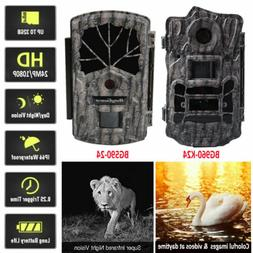Outdoor Trail Camera Night Vision 24MP Wildlife Hunting Game