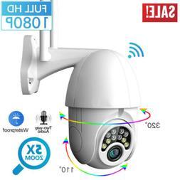 Outdoor Waterproof WiFi PTZ Pan Tilt 1080P HD Security IP IR