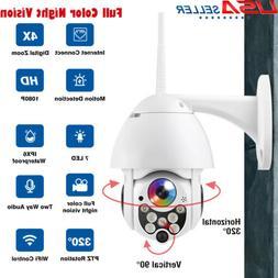 Outdoor WiFi PT 5X Zoom 1080P HD IP IR Security Camera Full