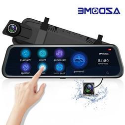 "AZDOME PG12 10""FHD 1296P Dual Lens Dash Cam Streaming Media"