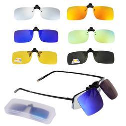 Polarized Clip On Sunglasses Men Women Near-Sighted Driving
