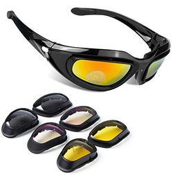 BELINOUS Polarized Motorcycle Riding Glasses, Tactical Glass