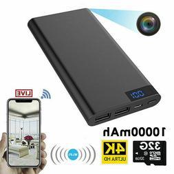 5000/10000mAH Power Bank Spy Hidden Camera Night Vision 1080