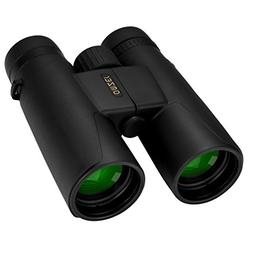 OMZER 10x42 High-Powered Compact Binoculars with BAK4 Prism