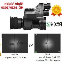 Pro Full HD 1080P Night Vision Telescope IR Rifle Mount Scop