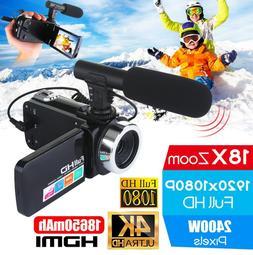 Professional 4K HD Camcorder <font><b>Video</b></font> <font
