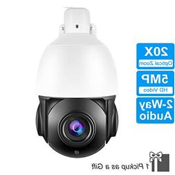 4 Inch Ultra HD 20X 5MP PTZ IP Camera Outdoor H.265 Network
