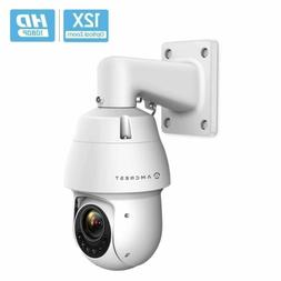 Amcrest 1080P Outdoor PTZ POE + IP Camera Pan Tilt Zoom  Pro
