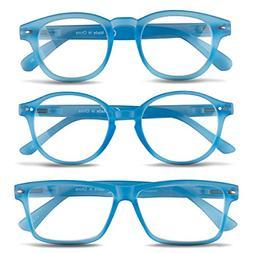 3 Pairs Unisex Reading Glasses-Comfy Stylish Spring Hinged R