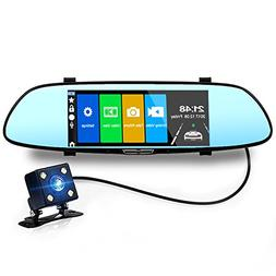 7 Inch Rear View Mirror Video Dash Camera Hd 1080P Car Mirro