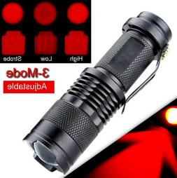 Red Beam Light LED Flashlights Night Vision Torch For Astron