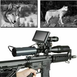 Rifle Scope Add On DIY Day Night Vision Scope w LCD Monitor