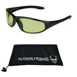 Safety Bifocal Yellow Night Vision Glasses Sports ANSI Z87