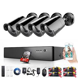 Rraycom 8-Channel 1080P Security System 1080H Video DVR with