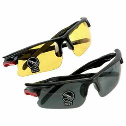 SET OF 2 PAIRS Day & Night Vision HD Sunglasses UV400 Drivin