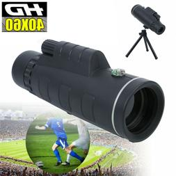Day Night Vision 40X60 HD Optical Monocular For Hunting Camp