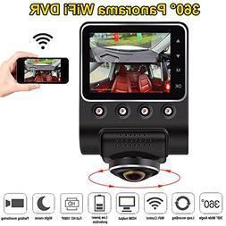 "ShiZhen 2.5"" 360 Degree Panoramic WiFi Car DVR Camera Full V"