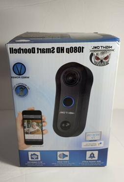 Night Owl Security 1080p Smart Doorbell with 32GB microSD Ca