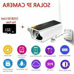 Outdoor Solar Wireless WiFi 1080P Security IP67 Camera Water