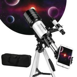 Solomark Refractor Telescope for Kids & Beginners, 70mm Trav