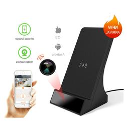 Spy-Hidden Camera QI Phone Fast Wireless Phone Charger With