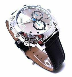 Spy Stylish Watch Camera Leather Design Mini Hidden DVR Nigh