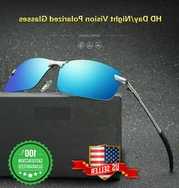 Tac HD+ Polarized Day & Night Vision glasses Men Driving Pil