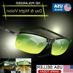 Tac HD Polarized Day & Night Vision Glasses Aviator Driving
