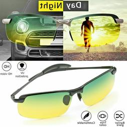 Tac HD+ Polarized Day Night Vision Glasses Men Aviator Drivi