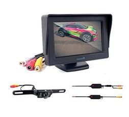 "Eoncore 4.3"" TFT LCD Monitor + Wireless Car Backup Camera Re"