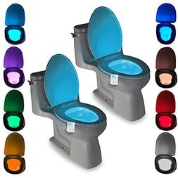 Toilet LED Color Changing Light,  Water-Resistant Smart Moti