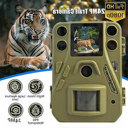 Trail Camera 24MP Night Vision Hunting Game Cam Waterproof 1