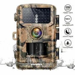 Campark Trail Camera Hunting 16MP 1080P PIR Night Vision Wat