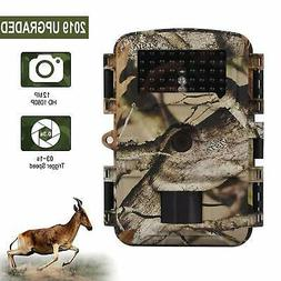 Wosports Trail Camera, 2018 Upgraded 1080P 12MP Hunting Game