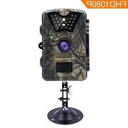 AIQiu Trail Game Camera, Waterproof 1080P 12MP HD Deer Hunti