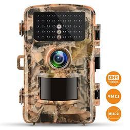 "Campark rail Camera 12MP 1080P 2.4"" LCD Game Camera Motion A"