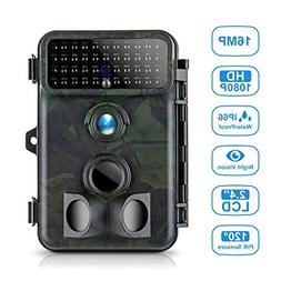 Tvird Trail Camera 16MP 1080P Wildlife Camera Super Night Vi