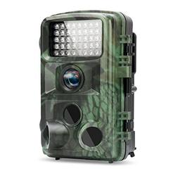 TEC.BEAN Trail Camera 12MP 1080P 2.4 Inch Color LCD Screen F