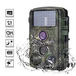MYPIN Trail Camera, 1080P 12MP Trail Game Hunting Camera wit