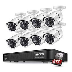 ZOSI 8-Channel HD-TVI 1080p Security Camera System,Surveilla