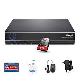 SANNCE HDMI 8CH 1080N/720P DVR W/1TB Hard Drive Disk for CCT