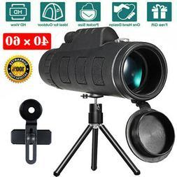 US Day&Night Vision 40X60 HD Optical Monocular Hunting Campi