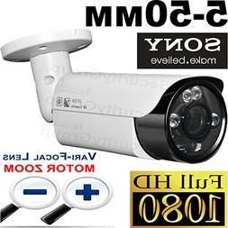 USG 2MP 1080P Motorized 5-50mm Lens Bullet Security Camera :